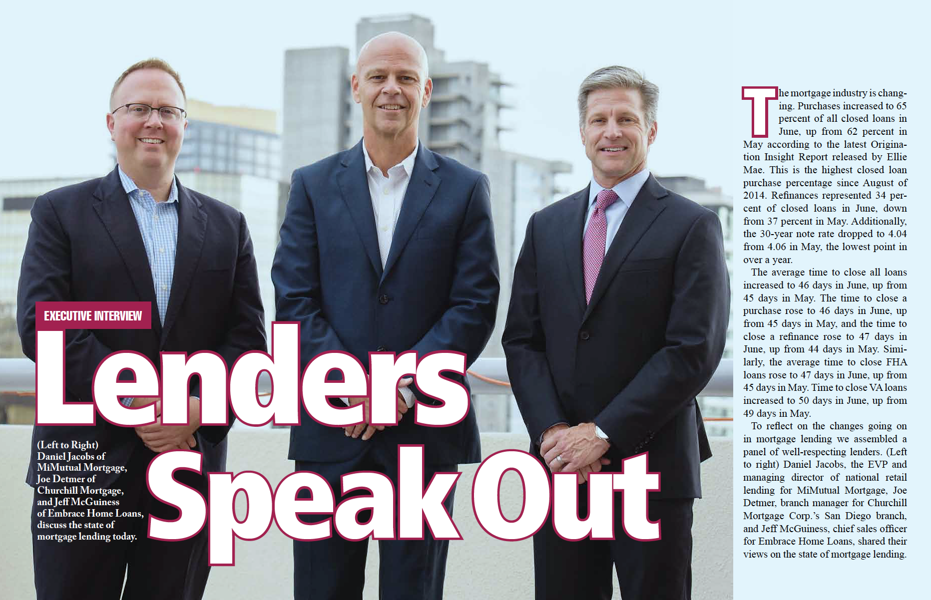 Lenders Speak Out